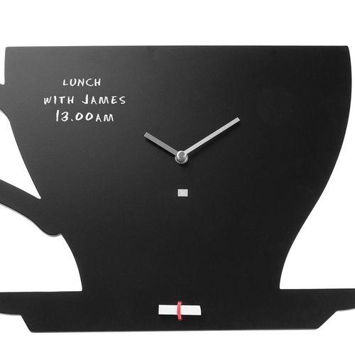 Wanduhr KITCHEN Tasse Schwarz 48cm Länge - 1