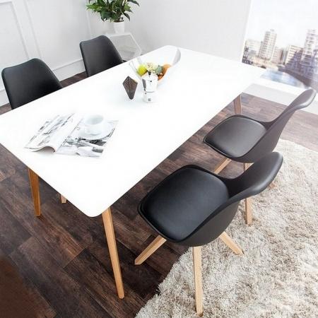 Retro Stuhl GÖTEBORG Schwarz-Eiche im skandinavischen Stil - 2