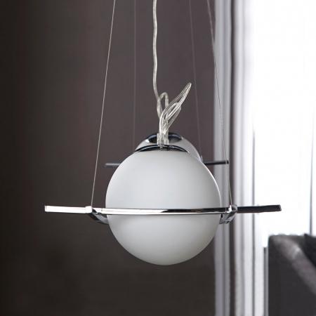 4er Hängelampe MUNDO Glas Weiß 100cm Länge - 2