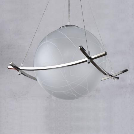 4er Hängelampe MUNDO Glas Weiß 100cm Länge - 4