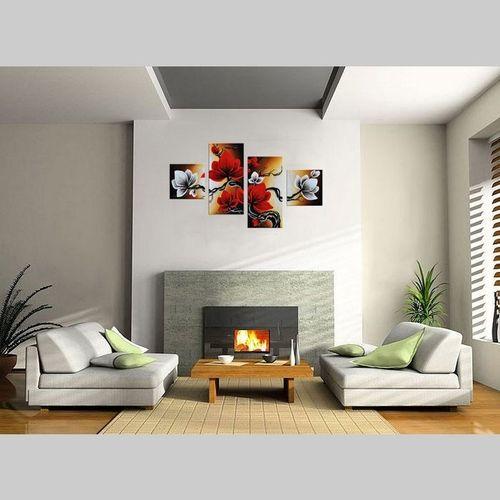 4 Leinwandbilder MAGNOLIA (4) 80 x 50cm Handgemalt - 2