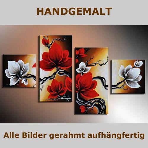 4 Leinwandbilder MAGNOLIA (4) 80 x 50cm Handgemalt - 5