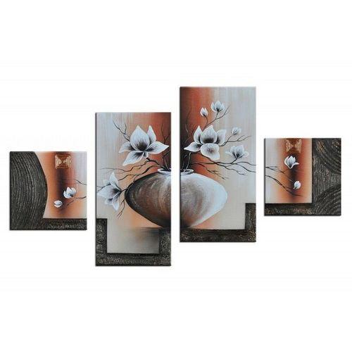 4 Leinwandbilder MAGNOLIA (5) 80 x 50cm Handgemalt - 1