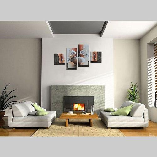 4 Leinwandbilder MAGNOLIA (5) 80 x 50cm Handgemalt - 2