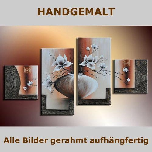 4 Leinwandbilder MAGNOLIA (5) 80 x 50cm Handgemalt - 5