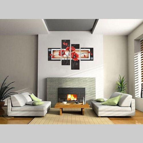 4 Leinwandbilder MOHN (4) 100 x 70cm Handgemalt - 2