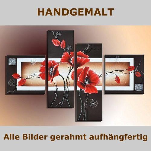 4 Leinwandbilder MOHN (4) 100 x 70cm Handgemalt - 5
