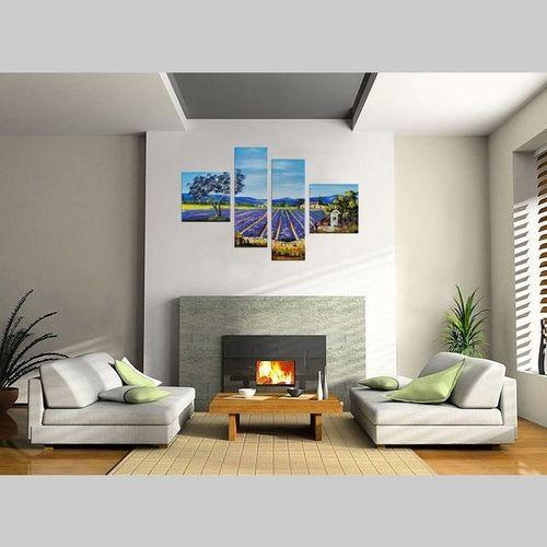 4 Leinwandbilder LAVENDELFELD (1) 100 x 70cm Handgemalt - 2
