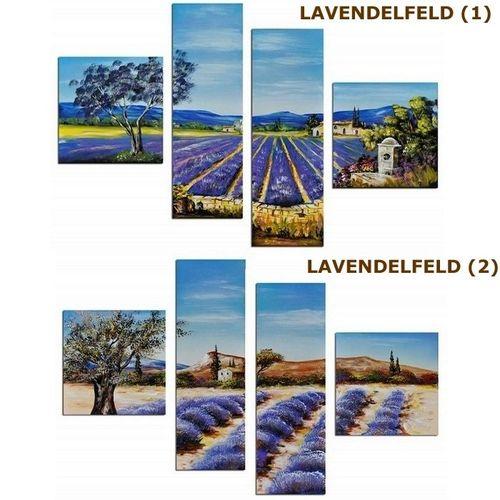 4 Leinwandbilder LAVENDELFELD (1) 100 x 70cm Handgemalt - 4