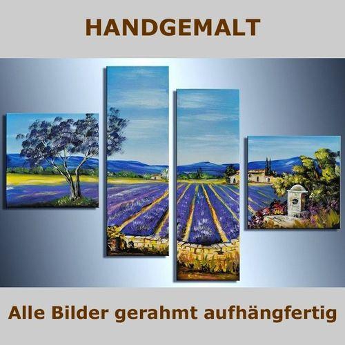 4 Leinwandbilder LAVENDELFELD (1) 100 x 70cm Handgemalt - 5