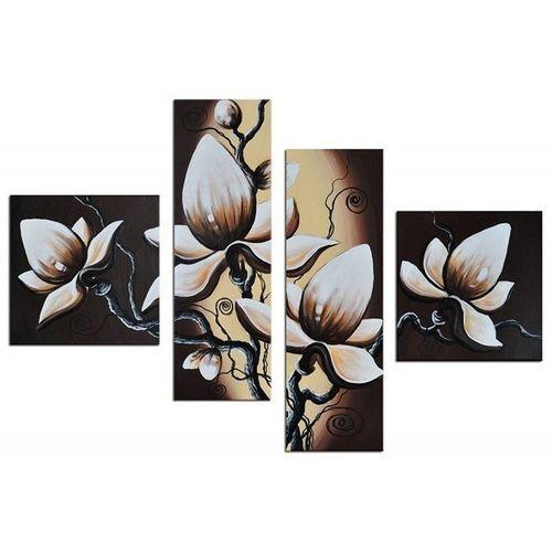 4 Leinwandbilder BLUMEN (1) 100 x 70cm Handgemalt - 1