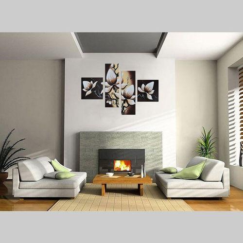 4 Leinwandbilder BLUMEN (1) 100 x 70cm Handgemalt - 2