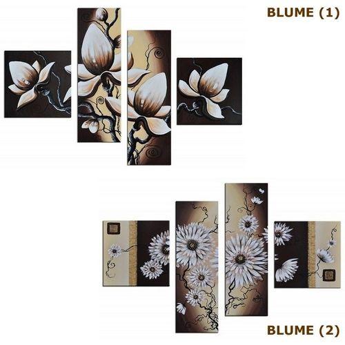 4 Leinwandbilder BLUMEN (1) 100 x 70cm Handgemalt - 3