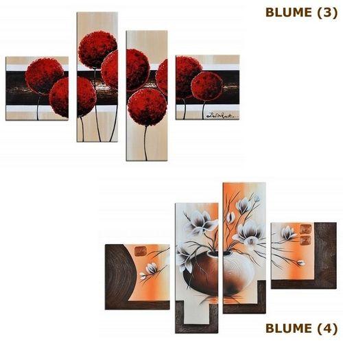 4 Leinwandbilder BLUMEN (1) 100 x 70cm Handgemalt - 4