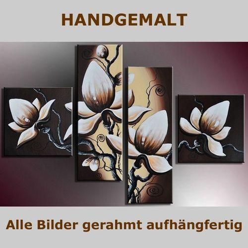 4 Leinwandbilder BLUMEN (1) 100 x 70cm Handgemalt - 5