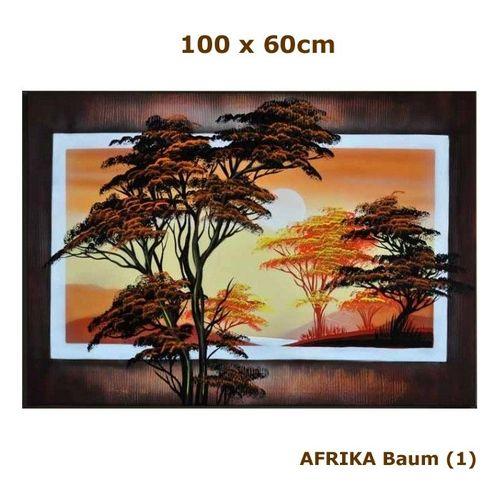 Leinwandbild AFRIKA Baum (2) 100 x 70cm Handgemalt - 3