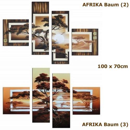 Leinwandbild AFRIKA Baum (2) 100 x 70cm Handgemalt - 4