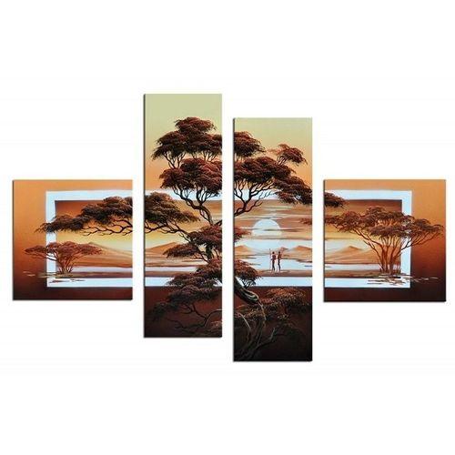 Leinwandbild AFRIKA Baum (3) 100 x 70cm Handgemalt - 1