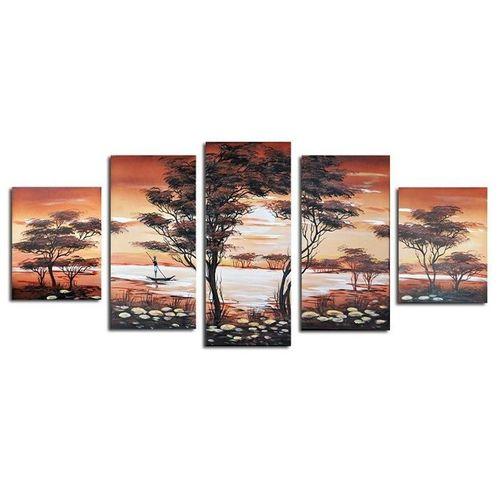 5 Leinwandbilder AFRIKA Life (1) 150 x 70cm Handgemalt - 1