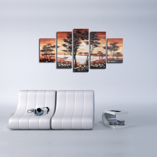 5 Leinwandbilder AFRIKA Life (1) 150 x 70cm Handgemalt - 2