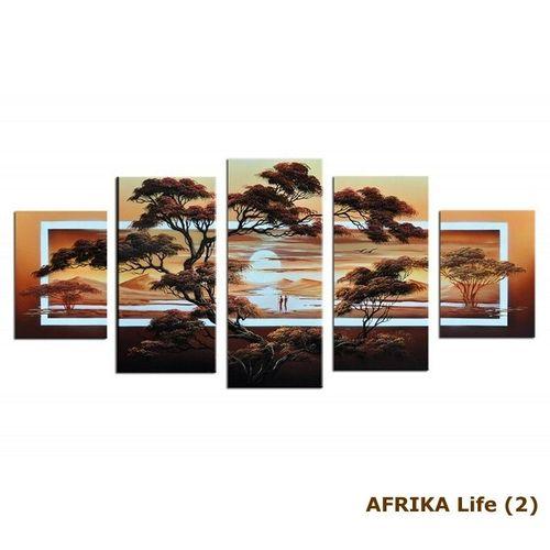 5 Leinwandbilder AFRIKA Life (1) 150 x 70cm Handgemalt - 3