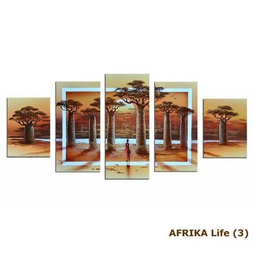 5 Leinwandbilder AFRIKA Life (1) 150 x 70cm Handgemalt - 4