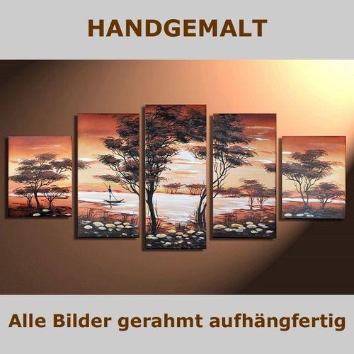 5 Leinwandbilder AFRIKA Life (1) 150 x 70cm Handgemalt - 5