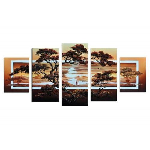 5 Leinwandbilder AFRIKA Life (2) 150 x 70cm Handgemalt - 1