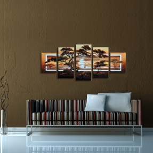 5 Leinwandbilder AFRIKA Life (2) 150 x 70cm Handgemalt - 2