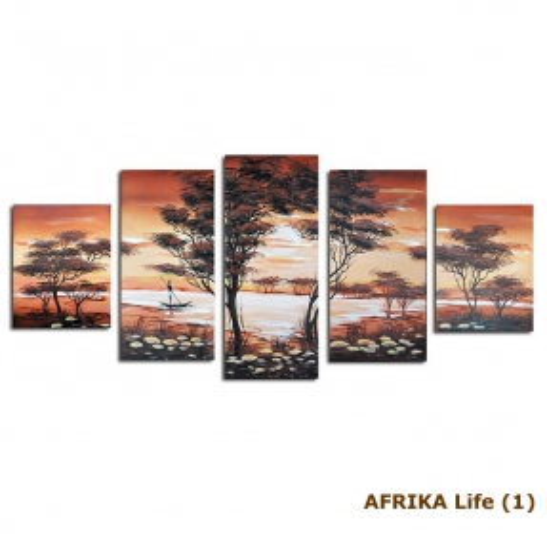 5 Leinwandbilder AFRIKA Life (2) 150 x 70cm Handgemalt - 3