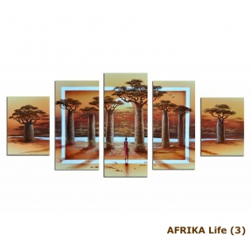 5 Leinwandbilder AFRIKA Life (2) 150 x 70cm Handgemalt - 4