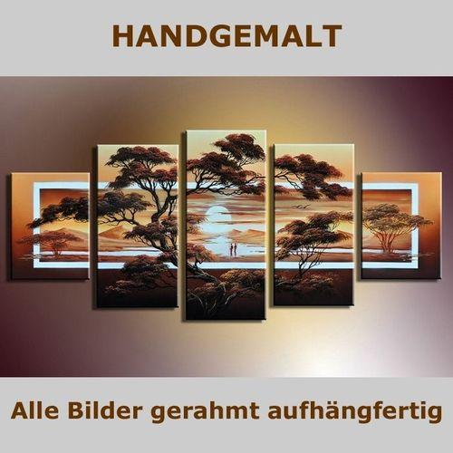 5 Leinwandbilder AFRIKA Life (2) 150 x 70cm Handgemalt - 5