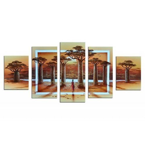 5 Leinwandbilder AFRIKA Life (3) 150 x 70cm Handgemalt - 1