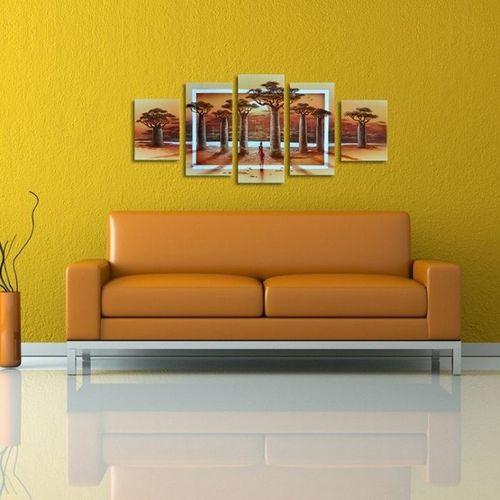 5 Leinwandbilder AFRIKA Life (3) 150 x 70cm Handgemalt - 2
