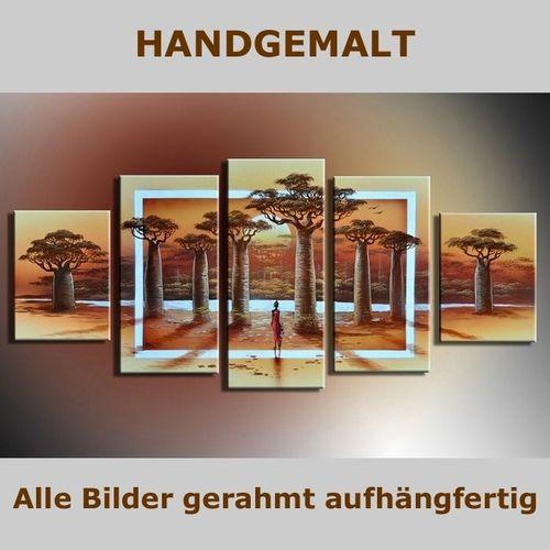 5 Leinwandbilder AFRIKA Life (3) 150 x 70cm Handgemalt - 5