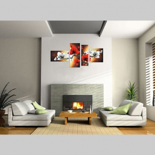 4 Leinwandbilder BLUMEN (1) 140 x 80cm Handgemalt - 2