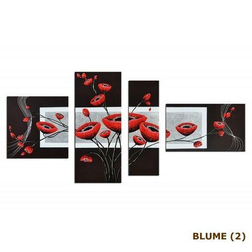4 Leinwandbilder BLUMEN (1) 140 x 80cm Handgemalt - 4