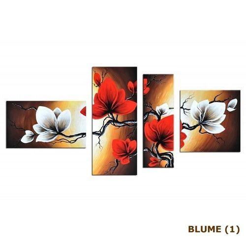 4 Leinwandbilder BLUMEN (2) 140 x 80cm Handgemalt - 4