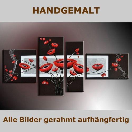 4 Leinwandbilder BLUMEN (2) 140 x 80cm Handgemalt - 5