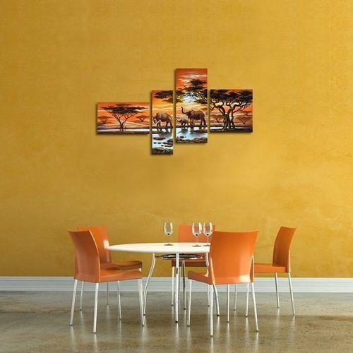 4 Leinwandbilder ELEFANT (1) 140 x 80cm Handgemalt - 3