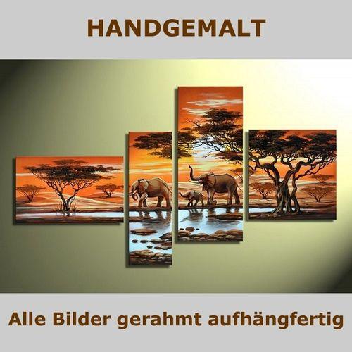 4 Leinwandbilder ELEFANT (1) 140 x 80cm Handgemalt - 5