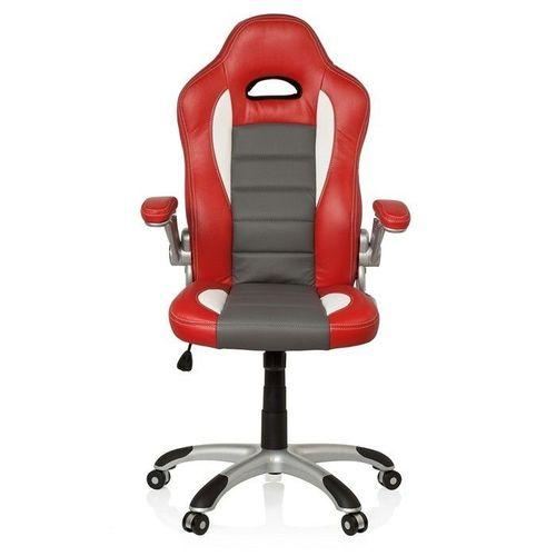 Chefsessel RACING MONZA Rot-Grau-Weiß aus Kunstleder - 1