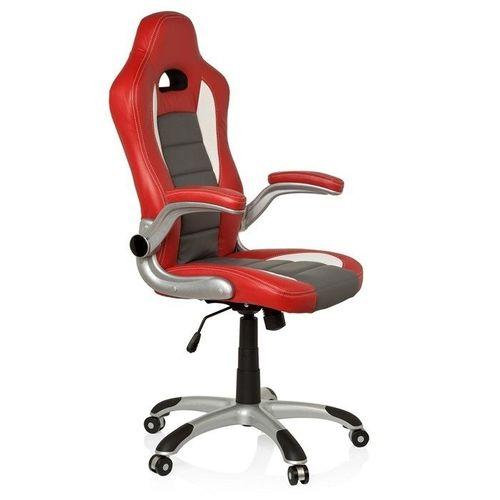 Chefsessel RACING MONZA Rot-Grau-Weiß aus Kunstleder - 2