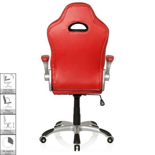 Chefsessel RACING MONZA Rot-Grau-Weiß aus Kunstleder - 4