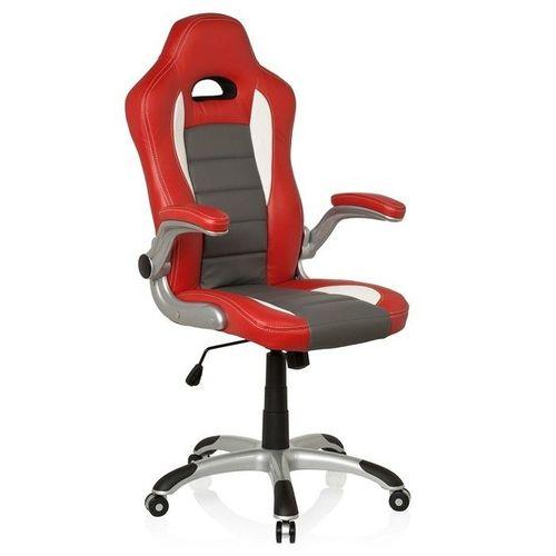 Chefsessel RACING MONZA Rot-Grau-Weiß aus Kunstleder - 5