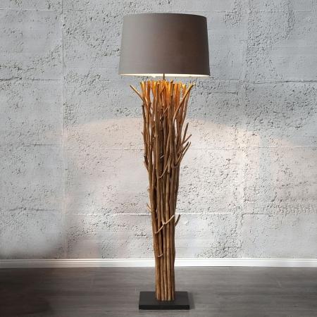 XL Stehlampe PENANG Grau-Braun aus Treibholz handgefertigt 175cm Höhe - 1
