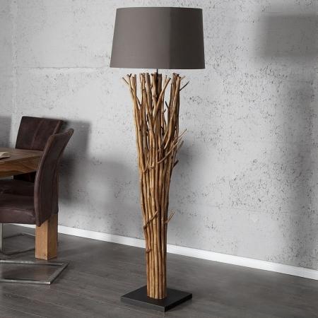 XL Stehlampe PENANG Grau-Braun aus Treibholz handgefertigt 175cm Höhe - 2