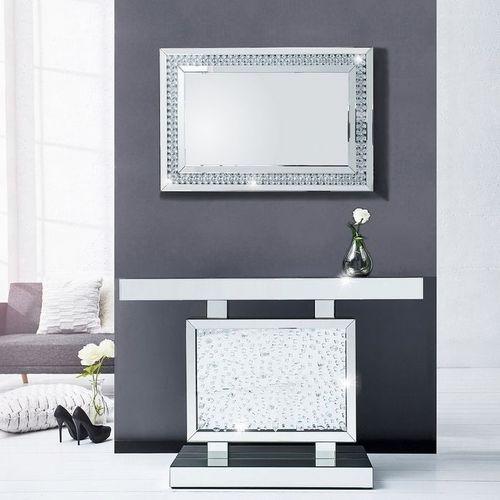 Glamouröse Konsole LUXOR mit Spiegelrahmen und funkelnden Kristallen 120cm - 2