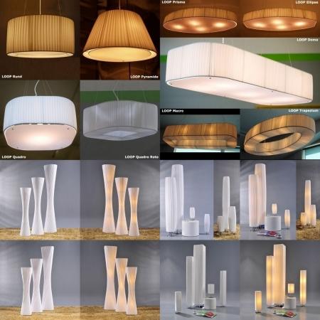 XL Stehlampe LOOP Weiß Kegelform Helix 160cm Höhe - 4