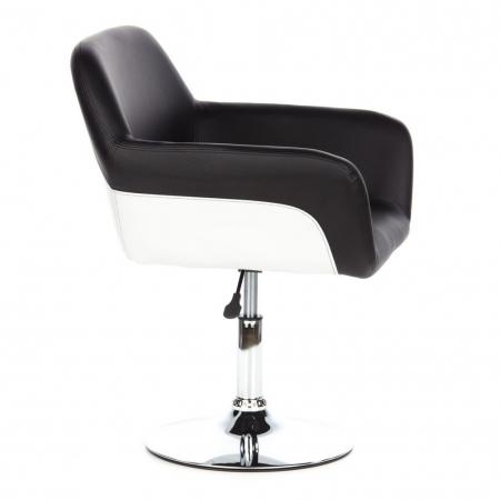 Barhocker WIEN Schwarz-Weiß aus Kunstleder höhenverstellbar - 3